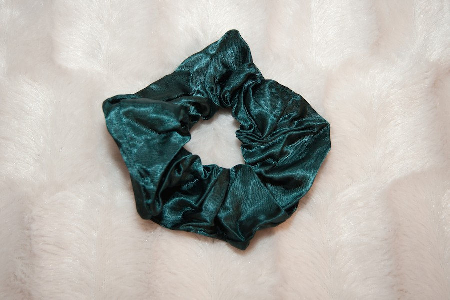 green scrunchie